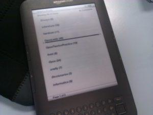 Mi Kindle bien cargadito