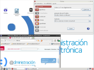 Captura de pantalla de Linux AE