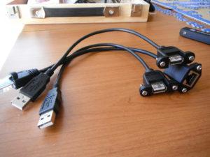 Cables de extensión USB y Ethernet